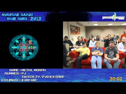 Metal Morph - Speed Run in 0:43:20 by PJ *Live for Awesome Games Done Quick 2013 [Super NES]