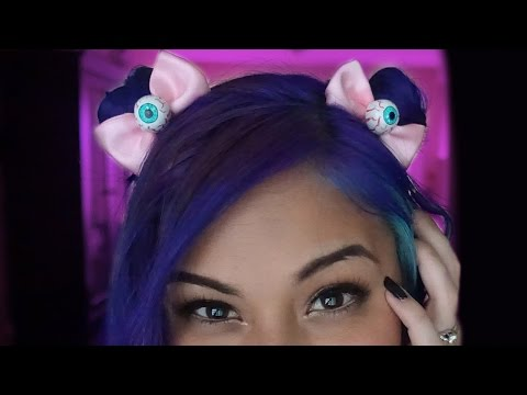 Eye Ball Bow Hair Clips ♥ DIY