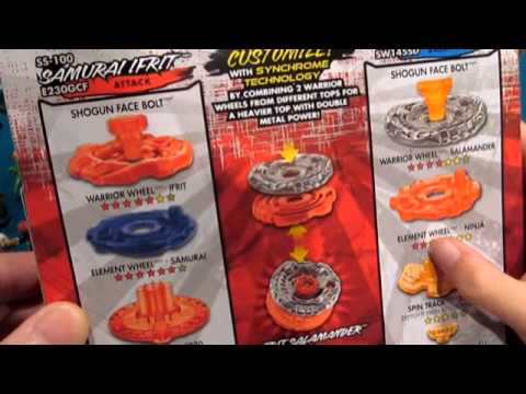Unboxing Beyblade Shogun Steel Ifrit Salamander Fire Synchrome 2 Pack