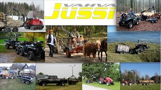 Vahva Jussi cranes with ATV-s, UTV-s, Tractors and horses