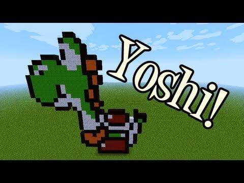 Tutoriais Minecraft: Como Fazer Pixel Art do Yoshi