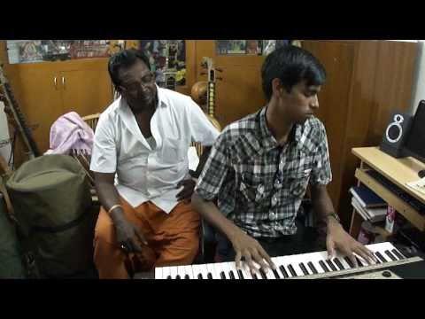 R.Ashwin Kumar Playing Piano song Munbe Vaain srisaintyalayam...
