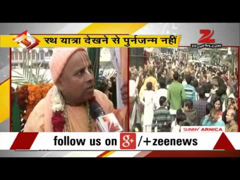 Ghaziabad ISKCON temple's members take out Lord Jagannath`s Rath Yatra
