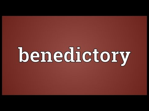 Header of benedictory