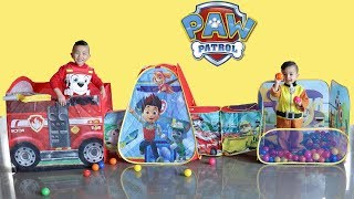 PAW PATROL PAWsome Play Tent Kids Pretend Play Indoor Fun With Ckn Toys