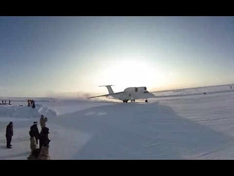 First-ever 360 footage from Russian Arctic military camp