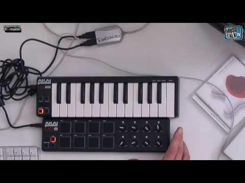 AKAI USB MIDI Controller LPK 25 LPD 8 Teil 1