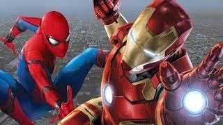Человек-паук и железный человек спасают людей на корабле.\Spider-Man: Homecoming