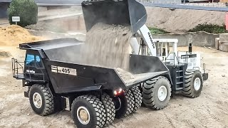 RC dump truck action! Beautiful R/C mining tipper at work!
