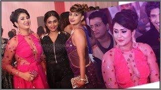 Ruwangi Rathnayake hot pink dress sexy fashion,(රුවන්ගිගේ අඩ නිරුවත )Derana Party,2015