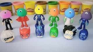 PJ Masks Toys Learn Colors With Play Doh Wrong Heads