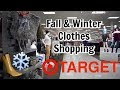Come Shop With Me: Fall and Winter Clothes Shopping at Target!