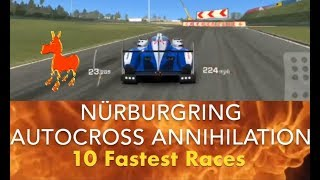 Real Racing 3 RR3 Nürburgring Autocross Annihilation: 10 Fastest Races