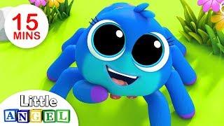 A Dona Aranha e mais clássicos infantis! | + Vídeos Infantis | Little Angel Português