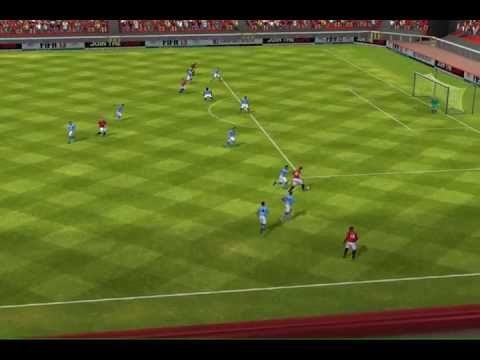 Rooney with a nice left kick. Manchester City sucks