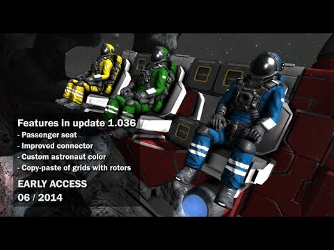 Space Engineers - Fully functional conveyor-connector system, custom astronaut's suit color