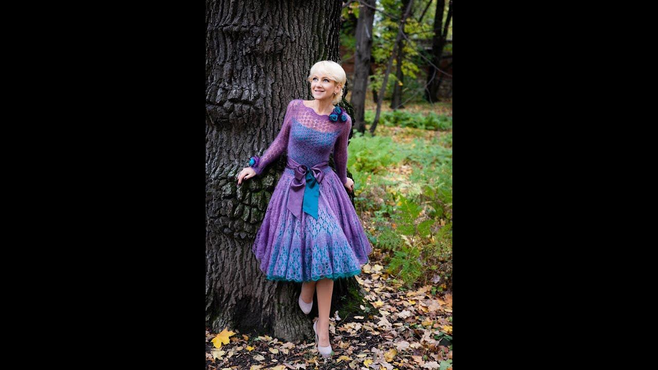Вязание мохерового платья 31