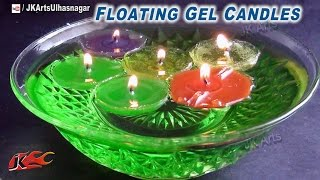 DIY Floating Gel Candles | How to make with Chocolate molds | JK Arts 697