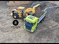 RC Truck Fun! Construction Special - New Year Ride 2018 - Wheel Loader & Excavator Action !