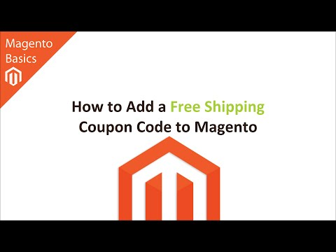 How to Add a Free Shipping Coupon Code to Magento