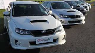 2 men talk Subaru Cosworth and track day on Subaru Stimuli event