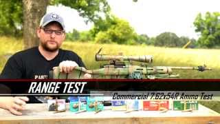 Commercial 7.62X54R Ammo Test