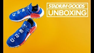 "NERD x Pharrell x adidas NMD Hu ""ComplexCon Exclusive 2018"" | Stadium Goods Unboxing"