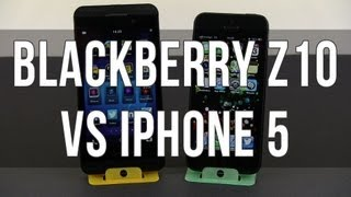Blackberry Z10 vs iPhone 5 in depth comparison