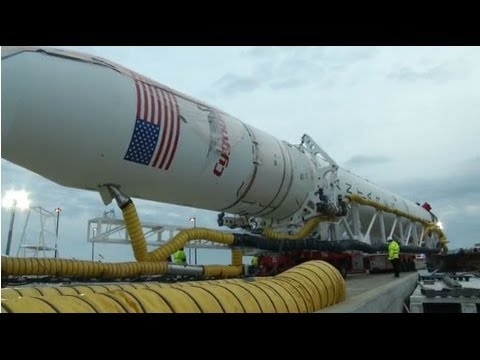 Orbital Rolls to Launch Pad at Wallops for Station Flight