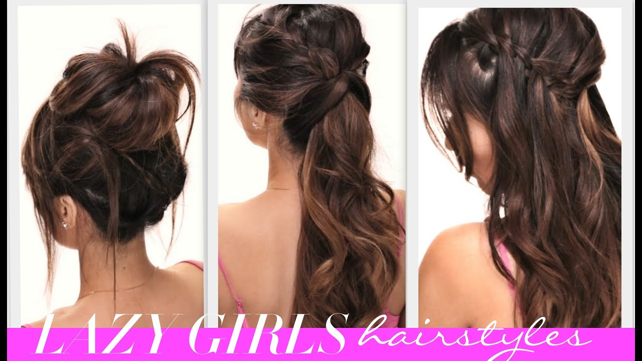 Easy Styles For Long Hair: ˜�4 EASY Lazy Girls BACK-TO-SCHOOL HAIRSTYLES
