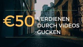 50 Euro verdienen durch videos gucken - Haushaltskasse aufbessern