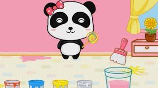 Развивающий мультфильм для детей Малыш Панда Кики и Мюмю Волшебные краски часть 1