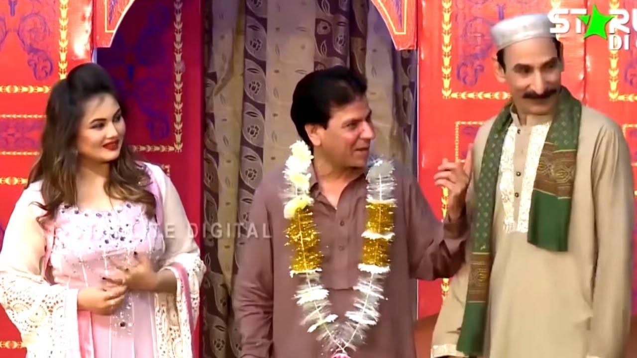 Tariq Teddy and Iftikhar Thakur New Pakistani Stage Drama Full Comedy Clip