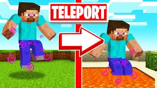 JUMP = TELEPORT To RANDOM LOCATION! (Minecraft)
