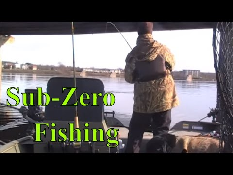 Sub-Zero Striper Fishing On The Saint John River, Fredericton, New Brunswick