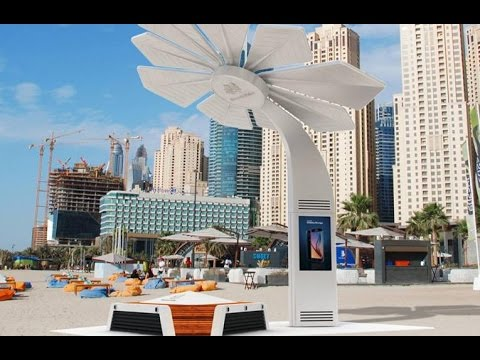 Smart Palm Trees Powering Beaches in Dubai