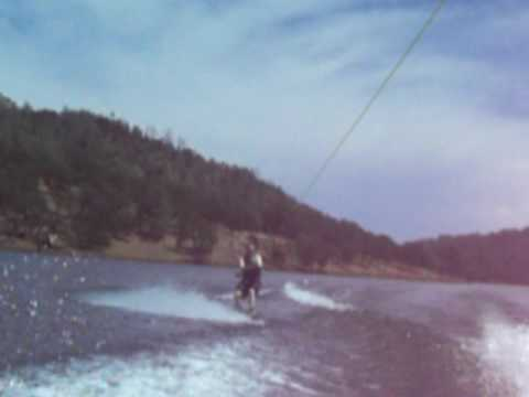 Jon wakeboarding and falling
