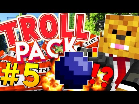 Minecraft TROLL PACK - BLOWING UP SPAWN PRANK! #5