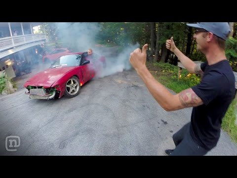 Fun & Games At Ryan Tuerck's Home Drift Car Garage: Garage Tours W  Chris Forsberg video