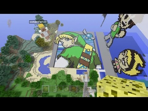 Minecraft Xbox 360 Edition - Incredible Pixel Art