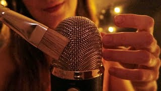 ASMR: SCRATCHING MICROPHONE AND BRUSHING