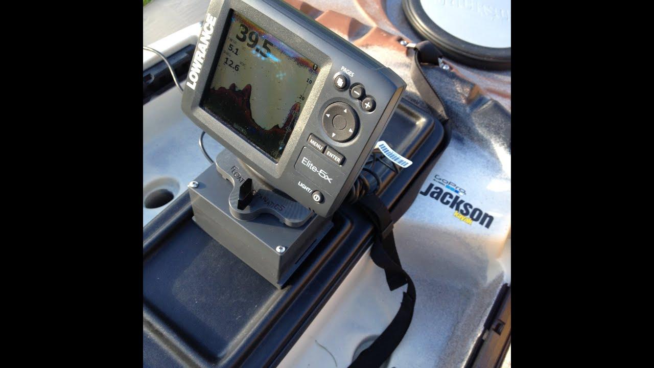 Jackson cuda 12 kayak the perfect fish finder set up for Kayak fish finder install