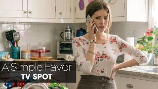 """A Simple Favor (2018) Official TV Spot """"Stephanie"""" – Anna Kendrick, Blake Lively, Henry Golding"""