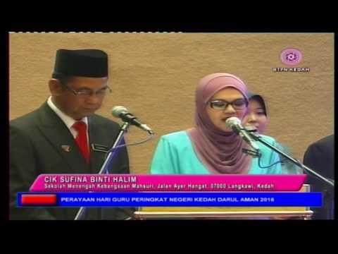 Sambutan Hari Guru Peringkat Negeri Kedah Tahun 2016 Part 1