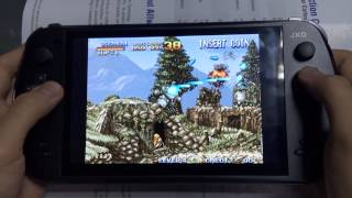 [04 Metal Slug 1 FBA emulator video game on JXD S7800B game c...] Video