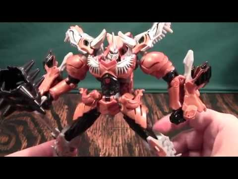 Transformers 4 Age of Extinction Voyager Grimlock Review (AoE dinobot)