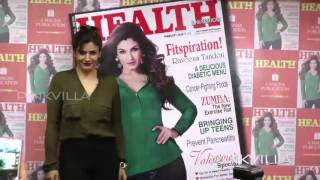 Raveena Tandon unveil's Health and Nutrition magazine cover page