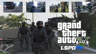 GTA 5 - LSPDFR - EPiSODE 12 - LET'S BE COPS - LAPD SWAT(GTA 5 PC POLICE MODS)