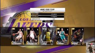 NBA® 2K19 | NBA 2K19 MyTeam | LA Lakers (MyTeam) - Creating My Starting Lineup + More!