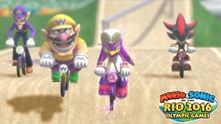Exclusive BMX Racing Gameplay - WiiU - Mario & Sonic at the Rio 2016 Olympic Games